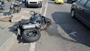 Motorcycle Crash In The Road